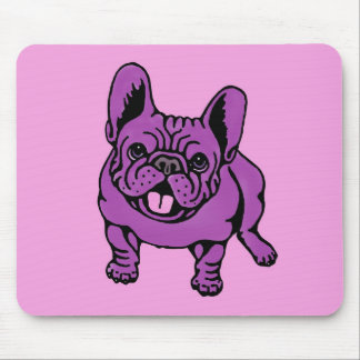 Purple Frenchie Mouse Pad