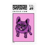 Purple Frenchie Postage Stamp