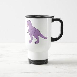 Purple Friendly Dinosaur Travel Mug
