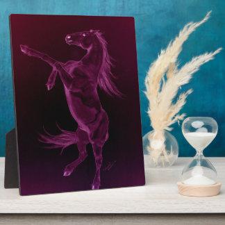 Purple Friesian Rearing Plaque