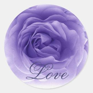 PURPLE Frilly Rose - Wedding Envelope Seal