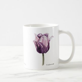 Purple Frilly Tulip Mug