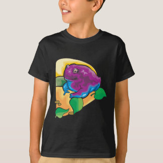 Purple Frog Design T-Shirt