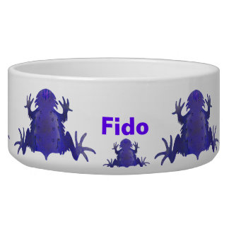 Purple Frog Pet Food Bowl