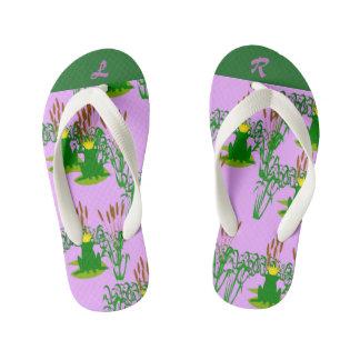 Purple Frog Prince Kid's Flip Flops