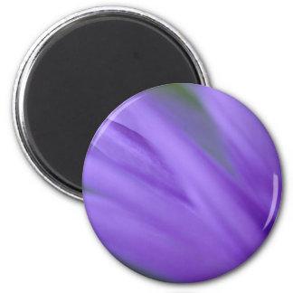 Purple Frond 2 Inch Round Magnet