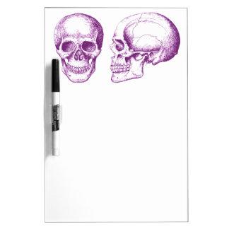 Purple Front Side Human Skull Dry-Erase Boards
