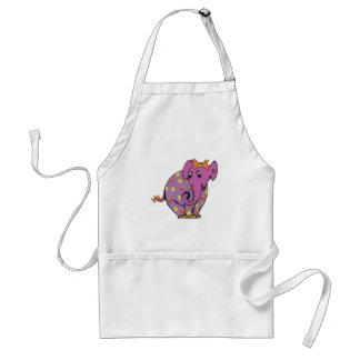 purple fruity elephant adult apron