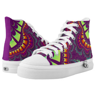 Purple Fruity Rainbow Remix High Top Shoes Printed Shoes
