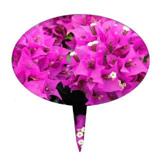 Purple Fuchsia Bougainvillea Background Cake Topper