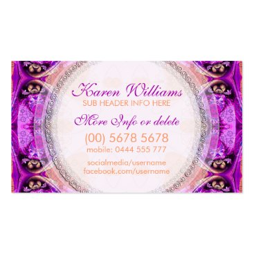 Energy Healing New Age Pink Business Cards