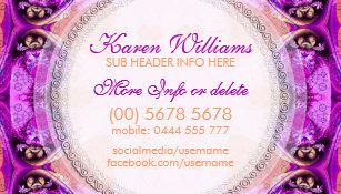 Esoteric business cards templates zazzle purple fuchsia healing new age business card colourmoves