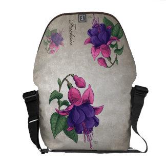 Purple Fuchsias Customizable Messenger Bags