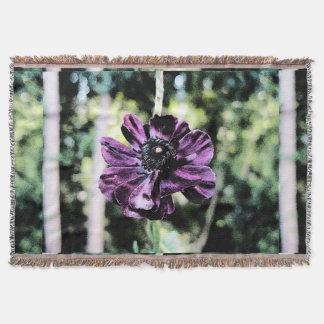 Purple fugue PFUGUE Throw Blanket