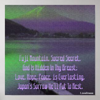 Purple Fuji Mountain's Love Secret Poster-Cust. Poster