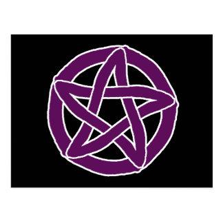 Purple Fun Pentacle Postcard