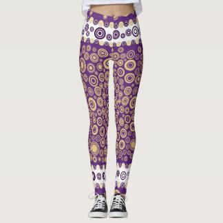 purple funky legging