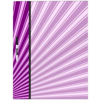 Purple Funky Sun Rays Background #2 Dry-Erase Board