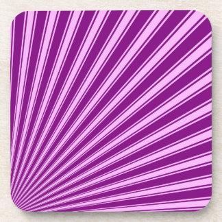 Purple Funky Sun Rays Background Coaster