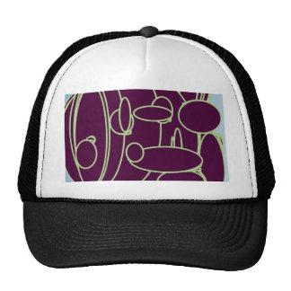 purple funky trucker hat