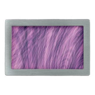 Purple Fur Look Belt Buckle