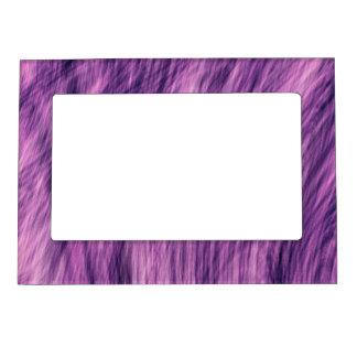 Purple Fur Look Magnetic Frame