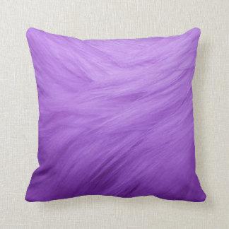 "Purple Fur Throw Pillow 20"" x 20"""
