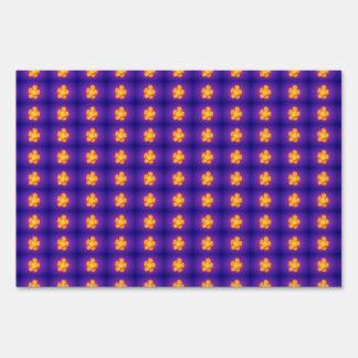 Purple Furnace Lawn Signs