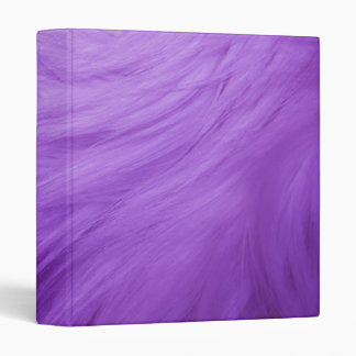 Purple furry binder