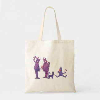 Purple Furry Cyclopes Eating Candy Tote Bag