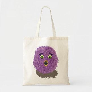 Purple Furry Monster Tote Bag