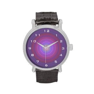 Purple Fuschia Bullseye with white numbers Wrist Watches