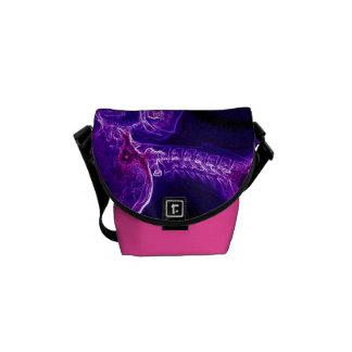 Purple/Fushia C-spine Messenger Bag (Small)