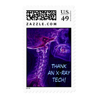 Purple/Fushia C-spine postage stamp