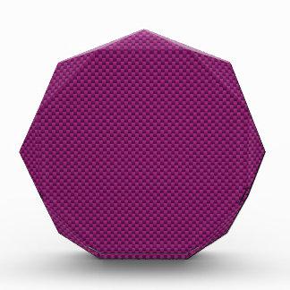 Purple Fushia Carbon Fiber Style Print Acrylic Award