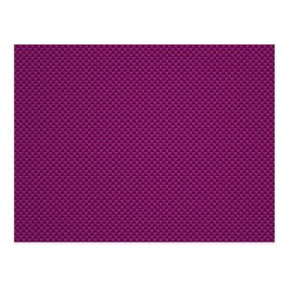 Purple Fushia Carbon Fiber Style Print Postcard