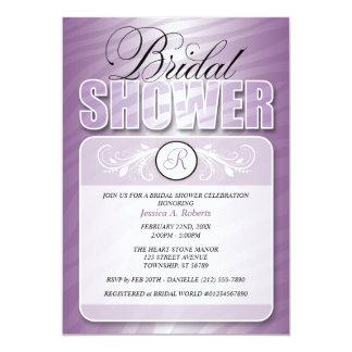 Purple Fusion Zebra Print Bridal Shower Invitation