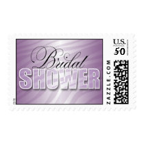 Purple Fusion Zebra Print Bridal Shower Postage