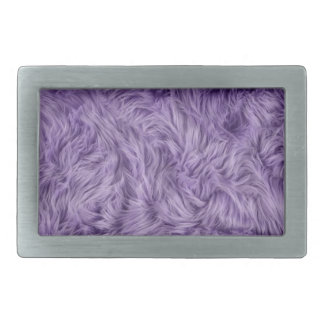 PURPLE FUZZY FUR BELT BUCKLE