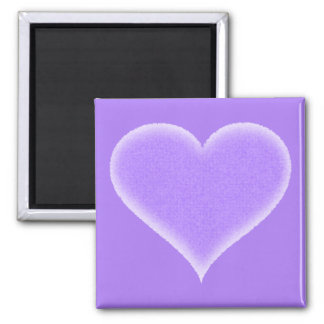 Purple Fuzzy Heart Customizable 2 Inch Square Magnet