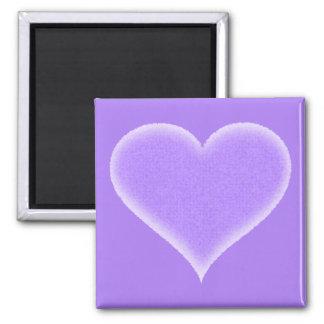 Purple Fuzzy Heart Customizable Magnet