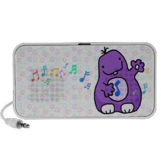 Purple Fuzzy Wuzzy Doodle Speaker