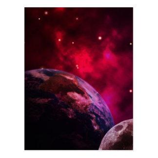 Purple galaxy 2 - purple galaxy postcard