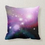 Purple Galaxy 3 Throw Pillows