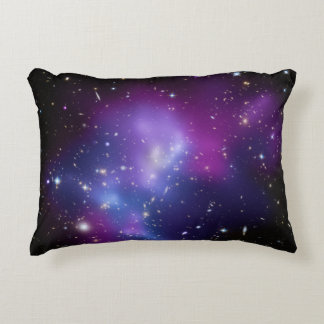 Purple Galaxy Cluster Decorative Pillow