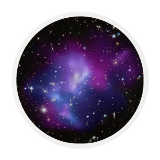 Purple Galaxy Cluster Edible Frosting Rounds