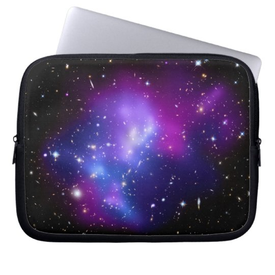 Purple  Galaxy Cluster J0717 Space Laptop Sleeve