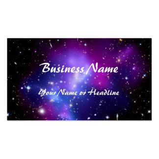 Purple Galaxy Cluster MACS J0717 Space Business Card Templates