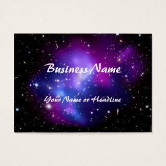 Purple Galaxy Cluster MACS J0717 Space Business Card