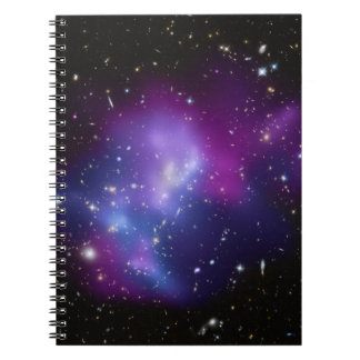 Purple Galaxy Cluster Spiral Notebooks